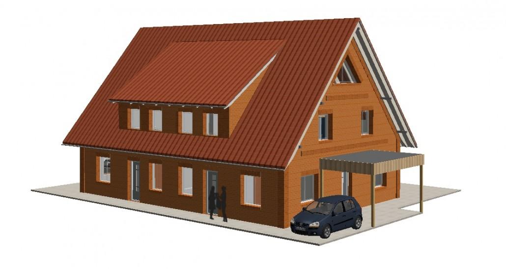 heidebau in blender neubau eines doppelhauses als kfw 40 haus in uphusen. Black Bedroom Furniture Sets. Home Design Ideas